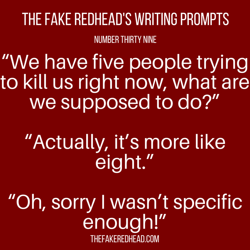 TFR's Writing Prompts No. 36-40