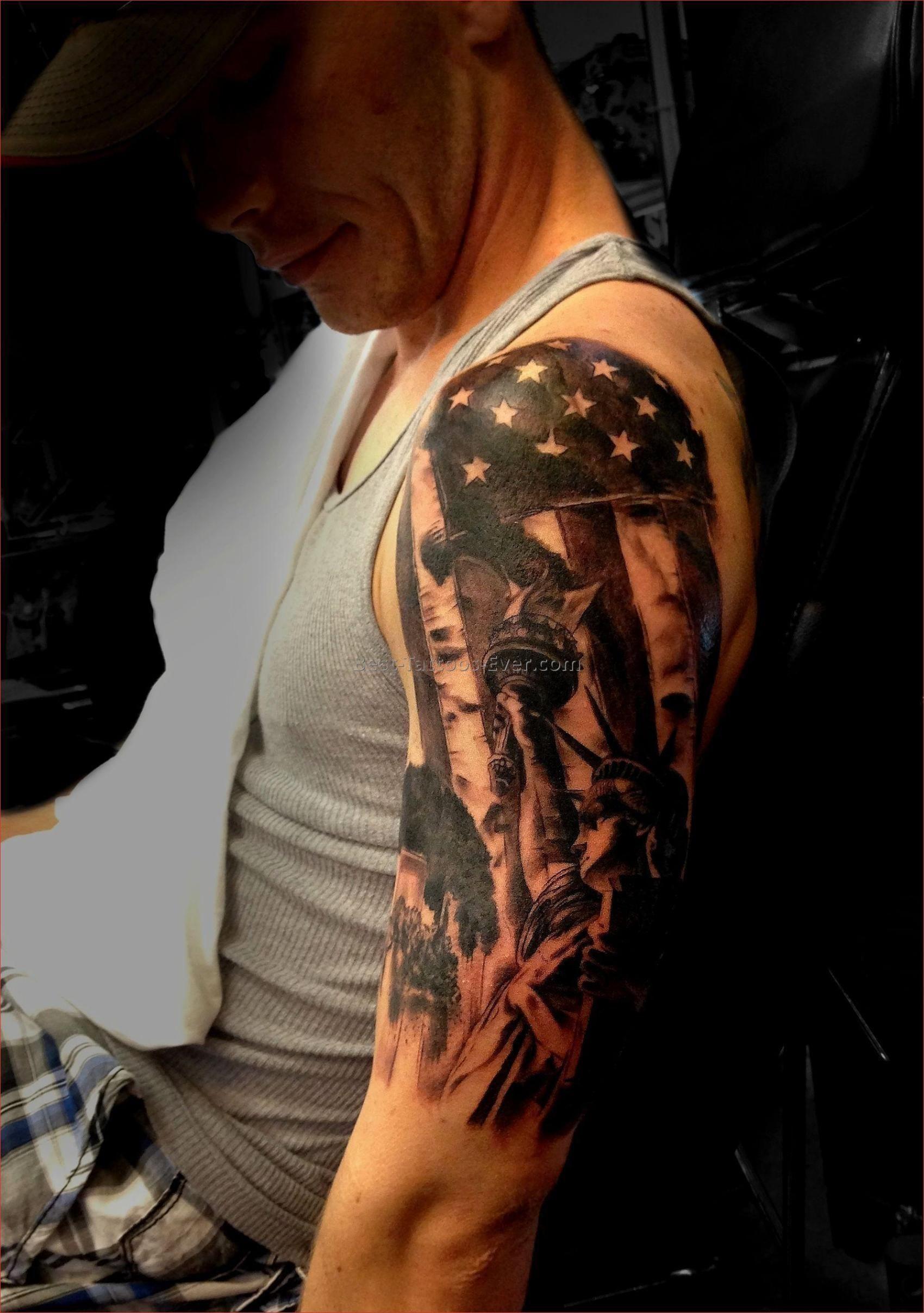 American Flag Half Sleeve : american, sleeve, Unique, American, Tattoos, Sleeves, Otomotive, Sleeve, Tattoos,, Designs,