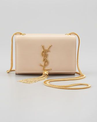 68fef486375 Cassandre Small Tassel Crossbody Bag, Off White by Saint Laurent at  Bergdorf Goodman.