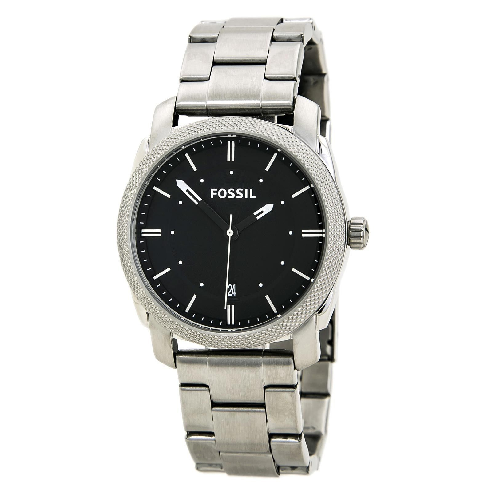 Fossil FS4773 Men's Machine Black Dial Stainless Steel Bracelet Watch