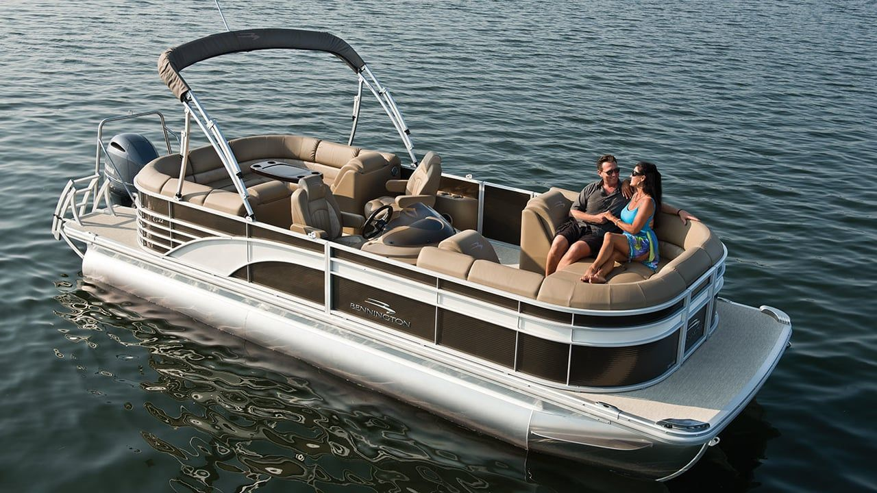 Who Needs A Cruise Ship When You Can Take A Romantic Cruise On Your Bennington Watch The Video To Experience The Beauty Of The Benni Pontoon Boat Boat Pontoon