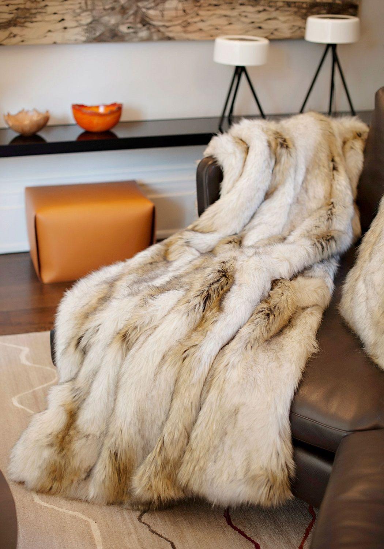 Designer Fur Fashion Fur Fur Throw Fur Blanket Throw