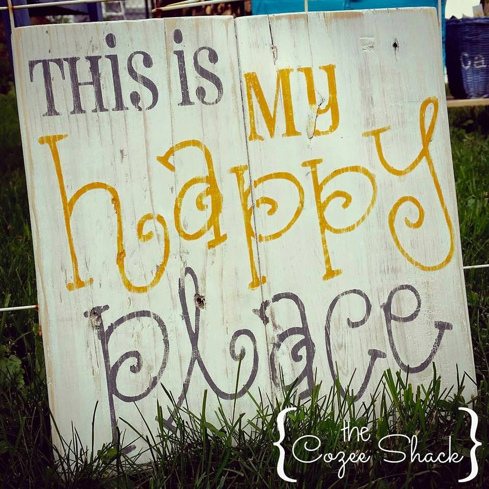 This is my Happy Place sign - pallet sign - wood sign - wall art ...