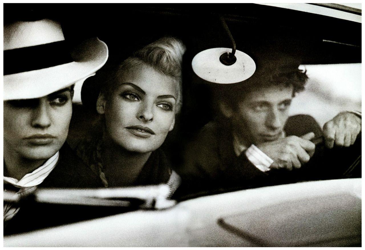 "robertocustodioart: ""Karen Mulder and Linda Evangelista as Bonnie & Clyde by Peter Lindbergh 1991 """