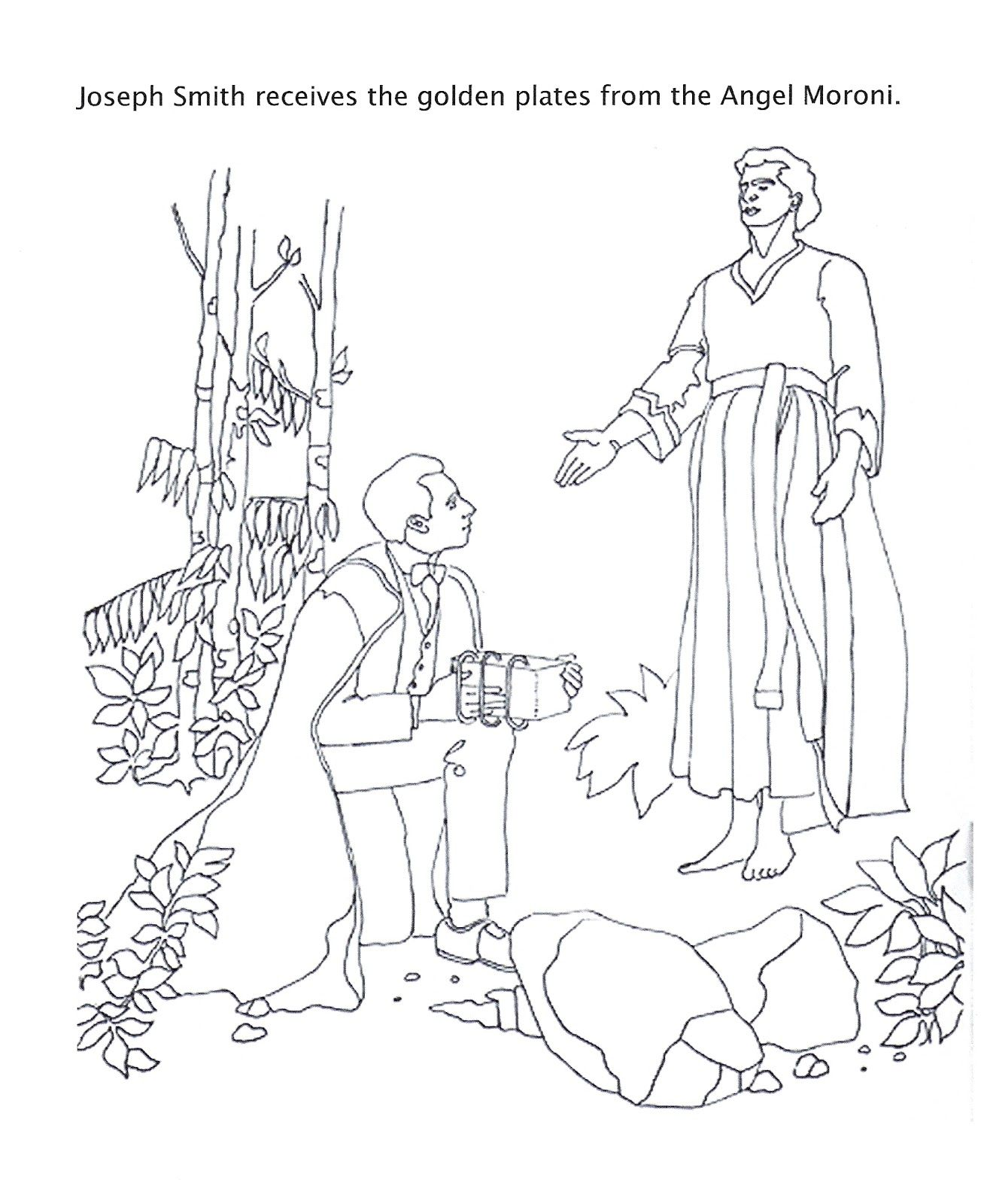 Joseph Smith And The Golden Plates Lds Coloring Pages Doctrine