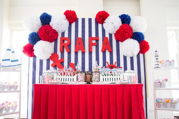 Red White Blue Nautical Birthday Party Nautical Birthday Party