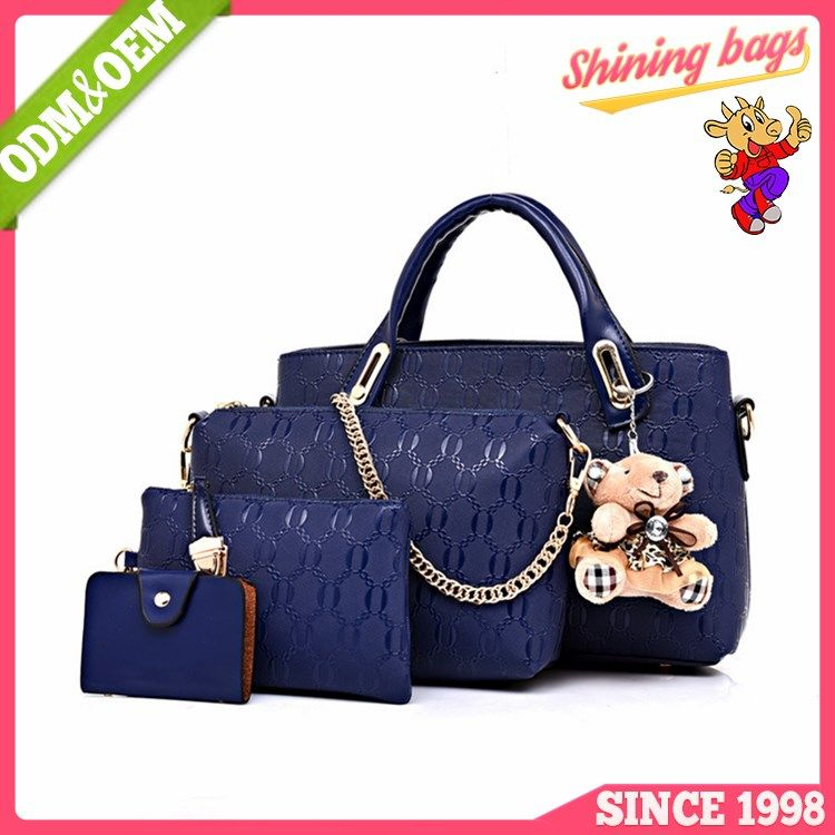 724fa4c955c Hot sale 4pcs one set ladies wallet ladies pars hand set bag ...
