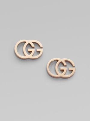 51d936ff3 Gucci 18K Rose Gold Double G Earrings | TTU | Ohrringe, Gucci und ...