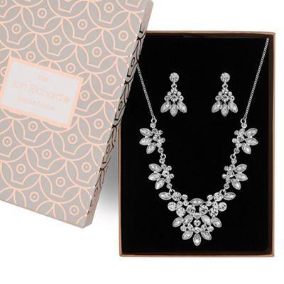 Jon Richard Silver Floral Crystal Jewellery Set Debenhams Crystal Jewelry Sets Bridal Jewelry Jewelry Sets