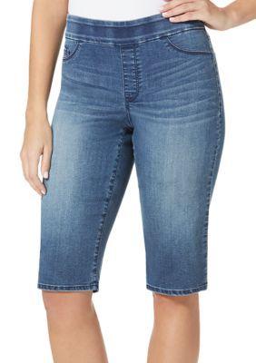 d828f6ee66d5a Bandolino Denali Thea Pull-On Denim Skimmer Pant Denim Leggings, Women's  Jeans, Skinny