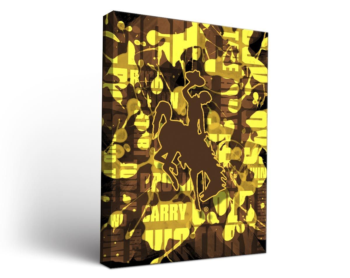 Wyoming Cowboys Fight Song Art Print on Canvas Rectangle | Products ...
