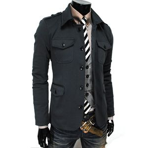 single-breasted charcoal stretchy jacket from The Lees Shop