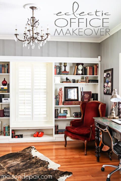 Eclectic Office Makeover   Maison De Pax