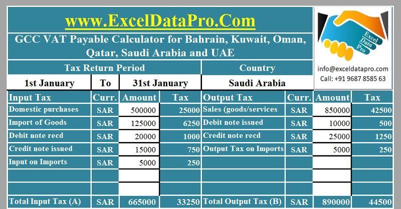 Download Bilingual Saudi Vat Invoice Excel Template  Template