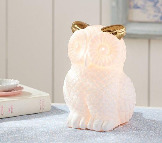 Glowing Owl Lamp Pottery Barn Kids Owl Lamp Kids Room