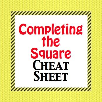 completing the square notes pdf
