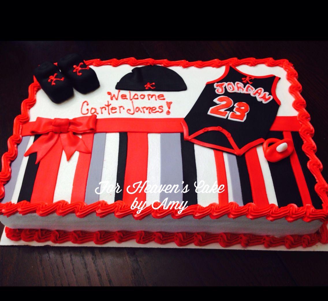 a1ba57b484d Michael Jordan Theme Baby Shower Cake | For Heaven's Cake by Amy (my ...