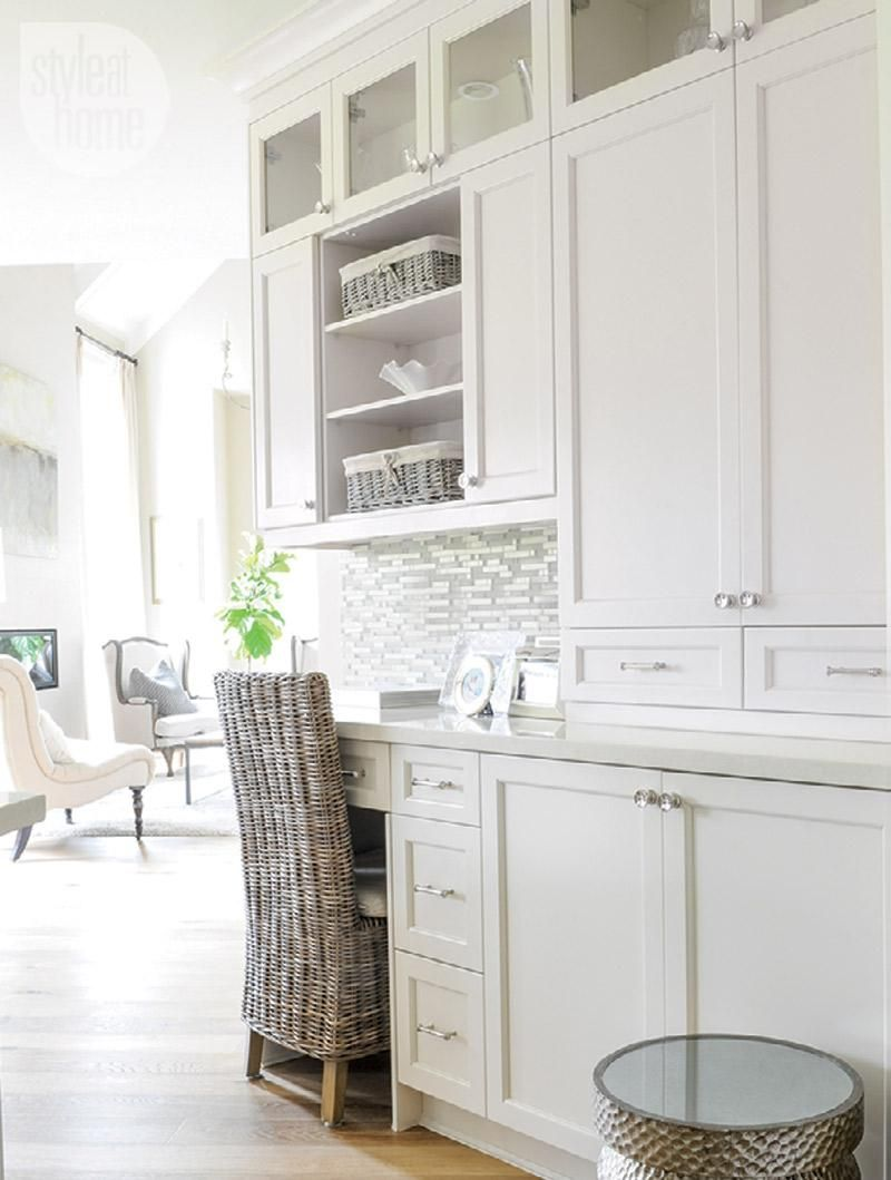 Interior: Soothing neutral family home | Neutral, Kitchen desks and ...