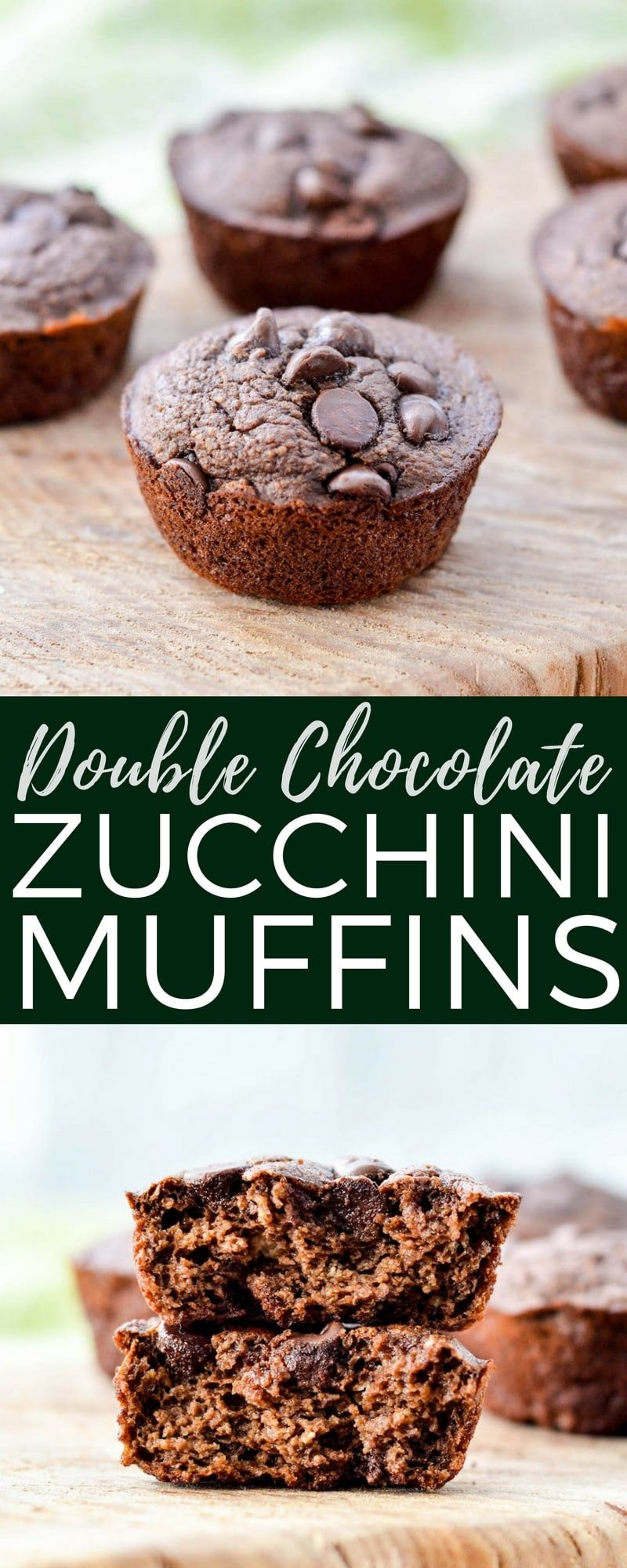These Double Chocolate Zucchini Muffins are a healthy easy makeahed breakfast loaded with sneaky veggies A kidtested mom approved recipe that your whole family will love