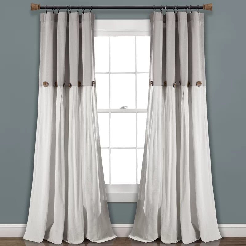 Beckham Window Solid Semi Sheer Rod Pocket Curtain Panel In 2020