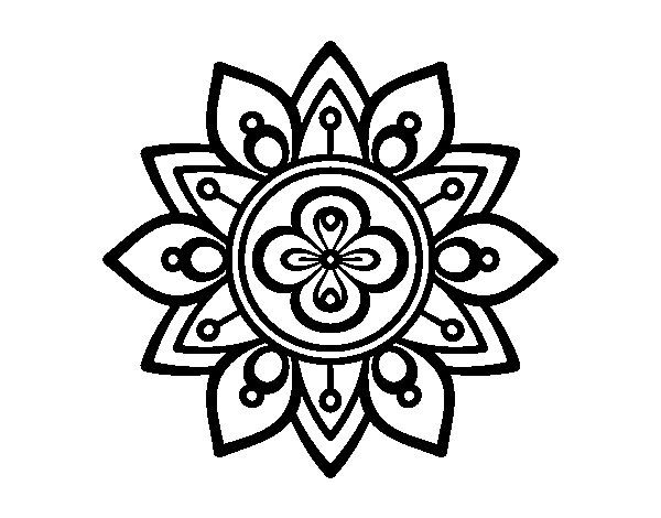 Dibujo De Mandala Flor De Loto Para Colorear Mandala Pinterest