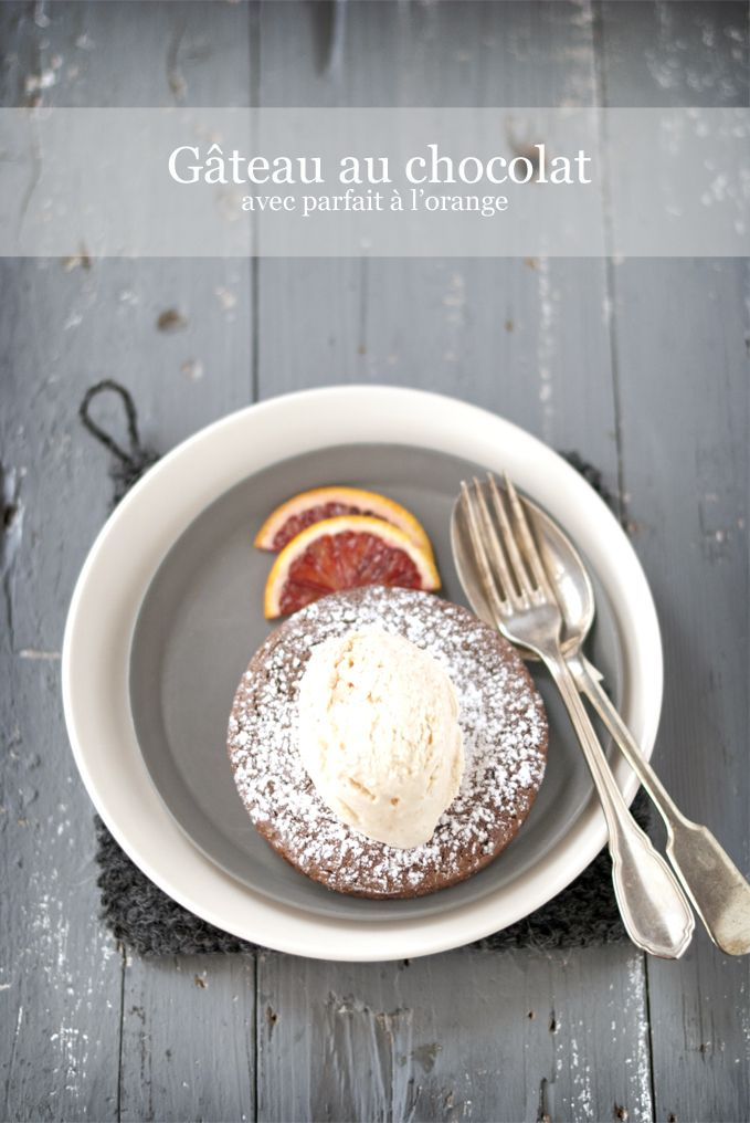 pane&burro: Menu d'amour #3: gâteau au chocolat con parfait à l'orange...