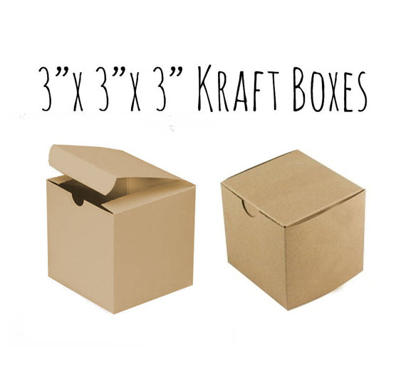 Kraft Boxes 3 X 3 X 3 5 To 20 Pack Of Wedding Favor Etsy Kraft Boxes Wedding Favor Boxes Kraft