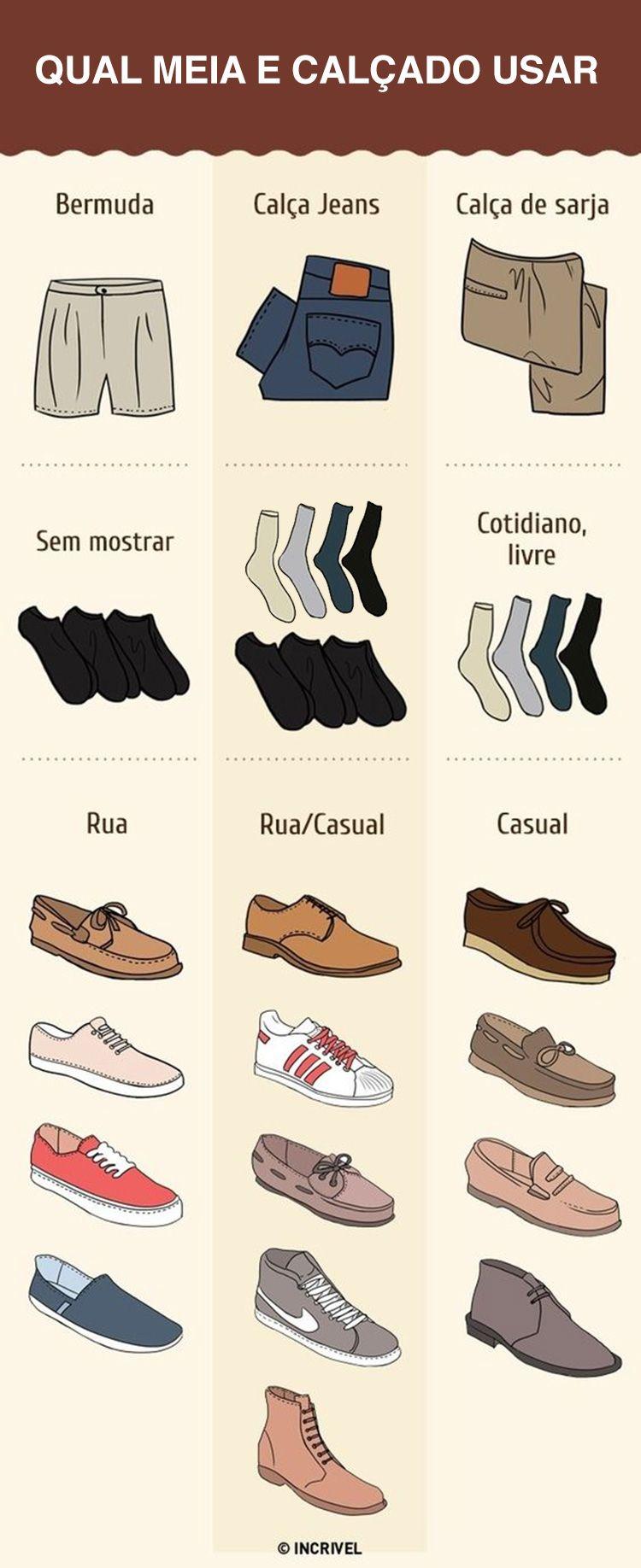 27f423fc3 Bateu a dúvida de qual tipo de meia ou calçado usar quando for combinar com  bermuda, calça jeans ou calça de sarja? Confira esse guia!