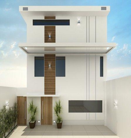 Fotos de fachadas de casas modernas e pequenas duplex for Fachadas duplex minimalistas