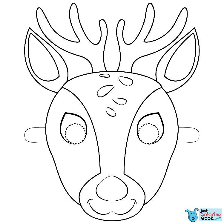 Deer Mask Coloring Page Deer Coloring Pages Deer Mask Free
