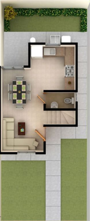 Pin de isbo valencia en casa 6x18 pinterest casas for Casas alargadas