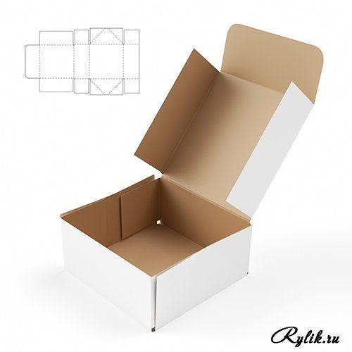 Шаблон коробка из картона 79