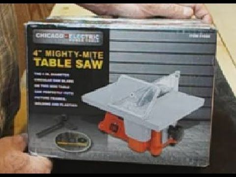 Review Of The Harbor Freight 4 Mighty Mite Table Saw Table Saw