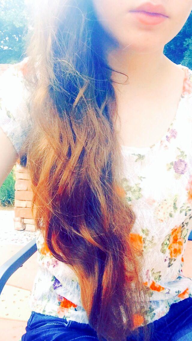 Ombré copper hair <3