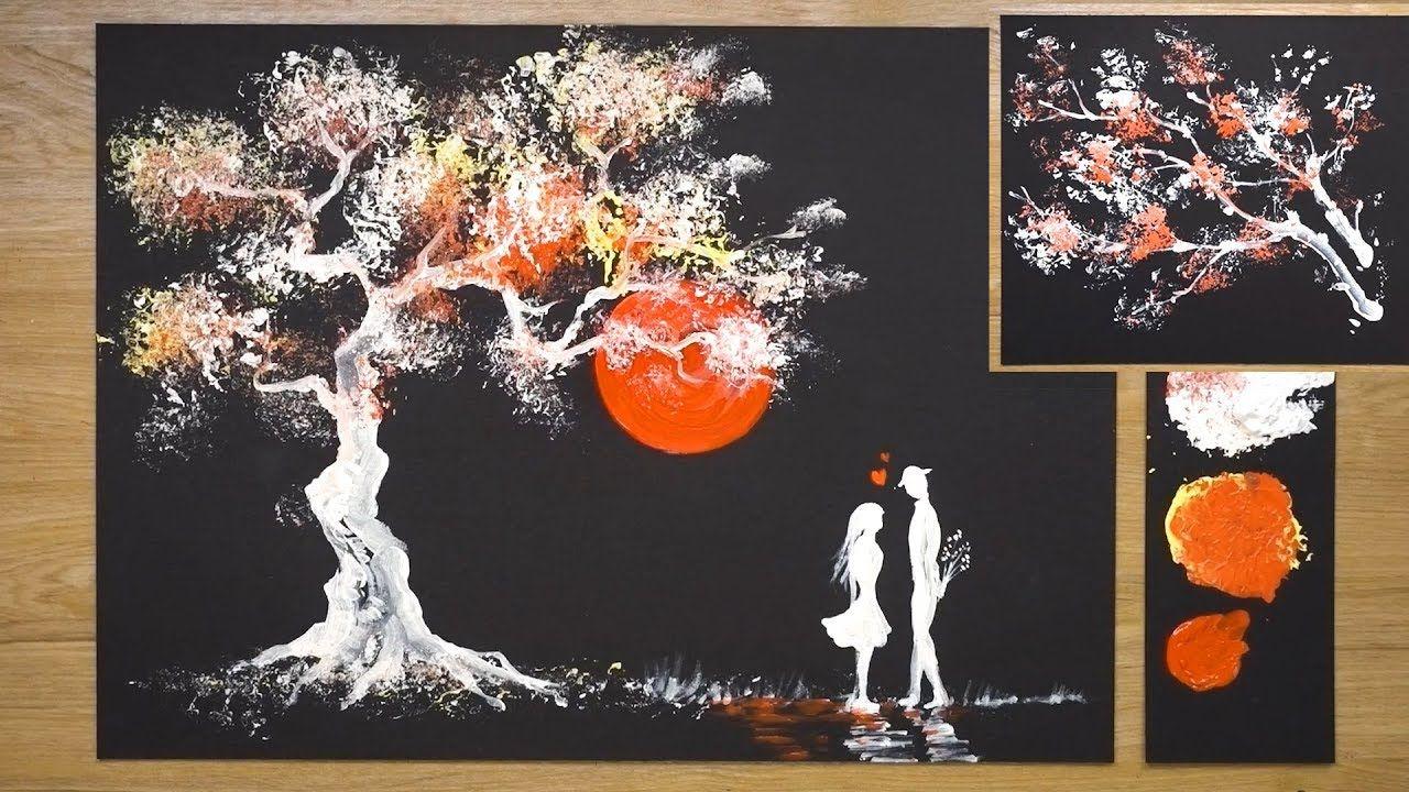 Aluminum Foil Painting Technique How To Draw Romantic Couple