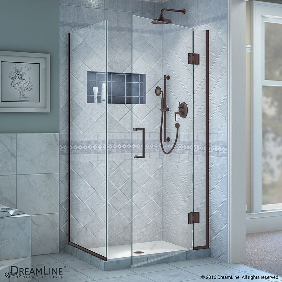 Dreamline Unidoor-X 34.375-In To 34.375-In Frameless Shower Door ...