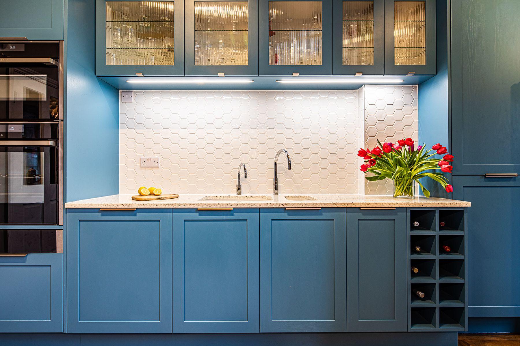 Blue Shaker Kitchen Cabinet Inspiration In 2020 Kitchen Cabinet Inspiration Blue Kitchen Cabinets Shaker Kitchen Cabinets