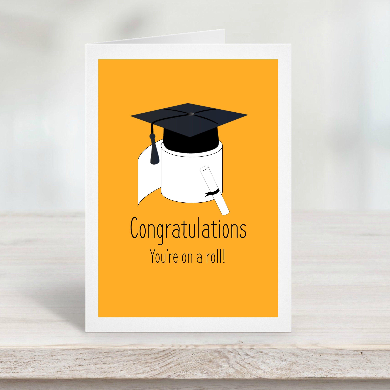 Graduation Card Template 2020 Graduation Cap Yellow Orange Funny Card Simplisti Graduation Cards Handmade Funny Graduation Cards Stampin Up Graduation Cards