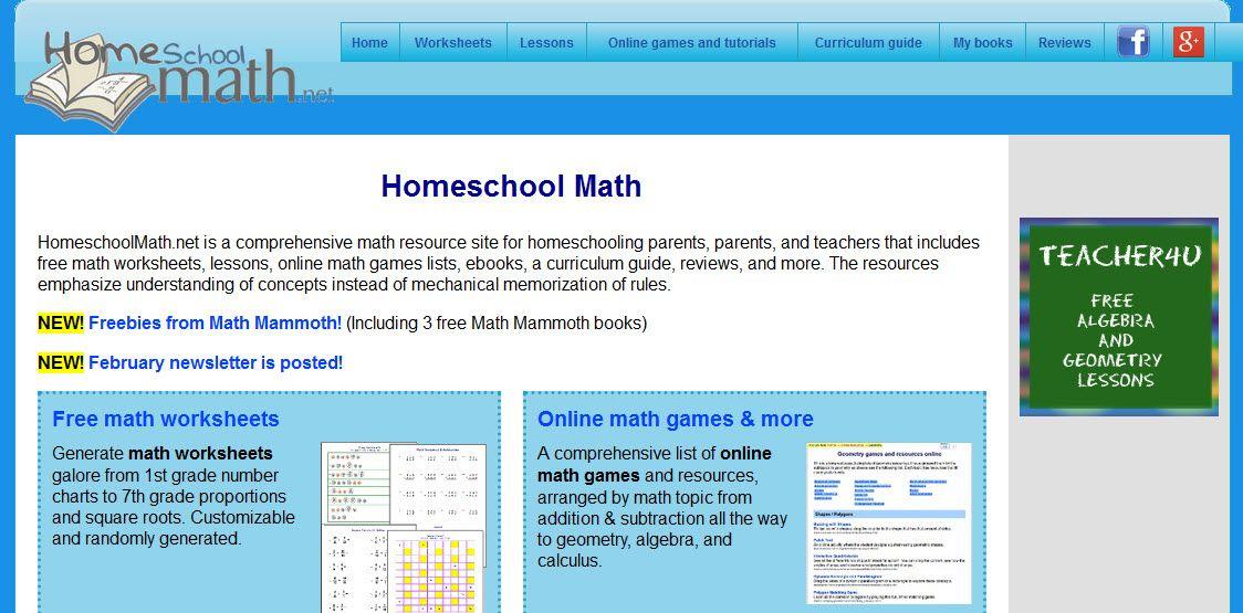 Printable Worksheets  Homeschoolmath.net Worksheets ...