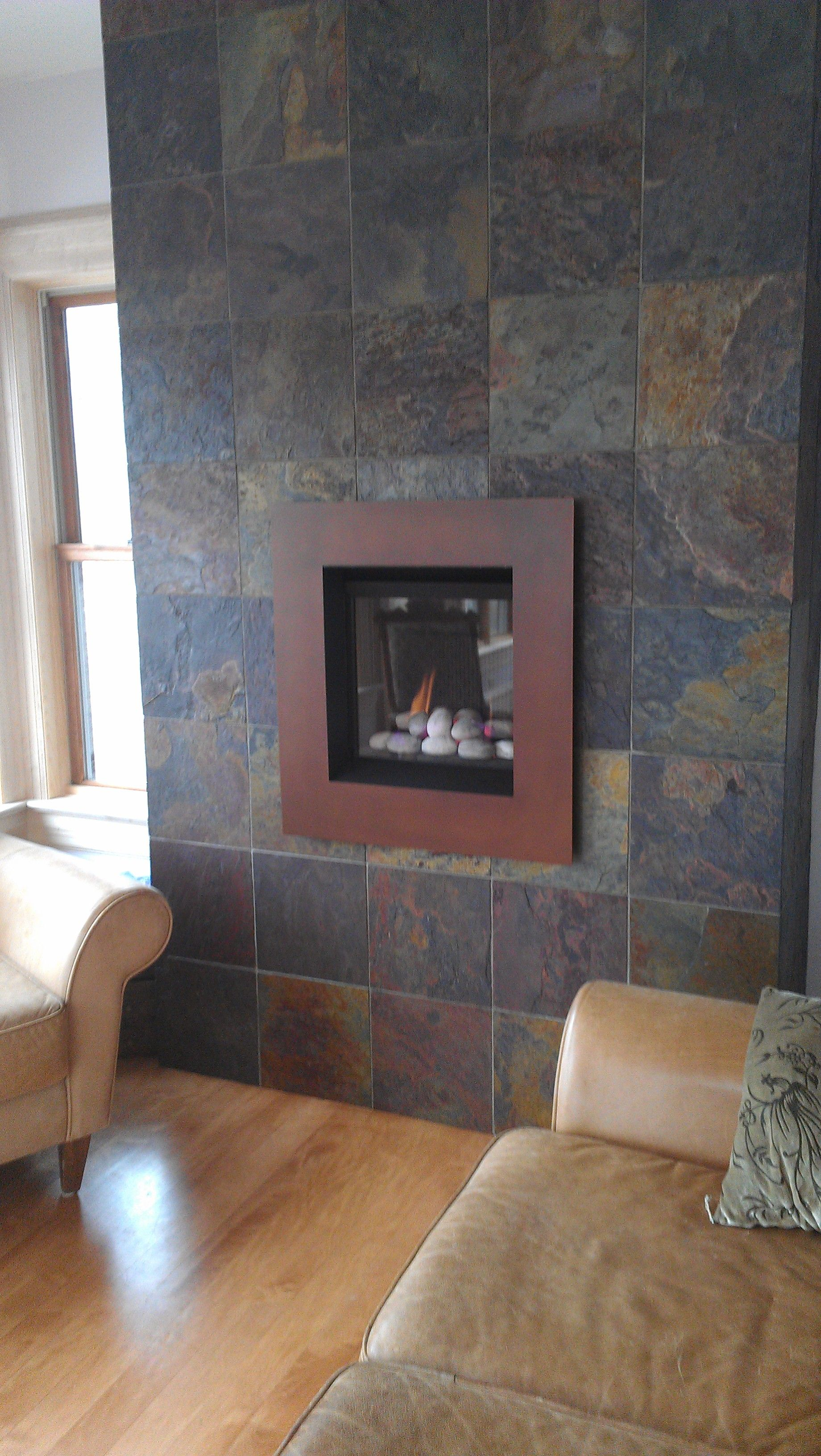 "Fireplace Facade valor 530irn ledge ""stone fire"" radiant gas fireplace and insert"