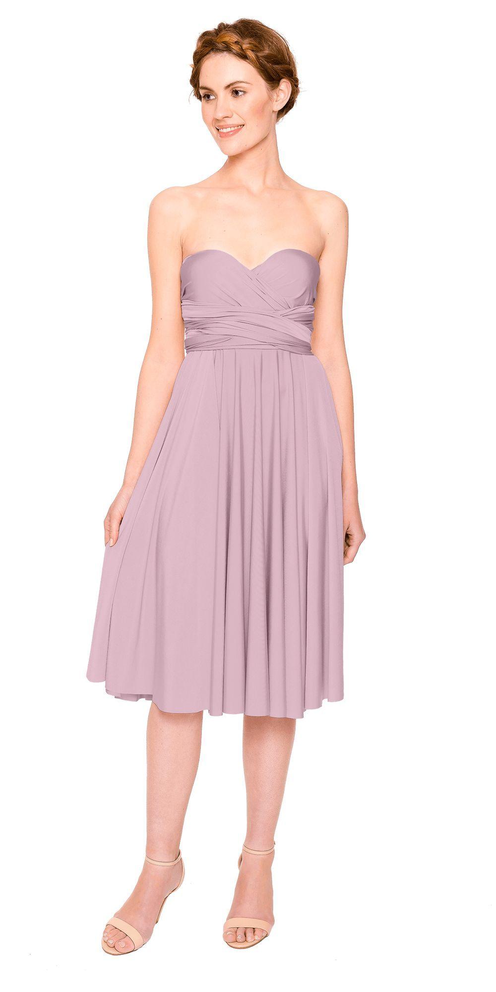 Strapless knee length bridesmaid dress   A twobirds bridesmaid ...