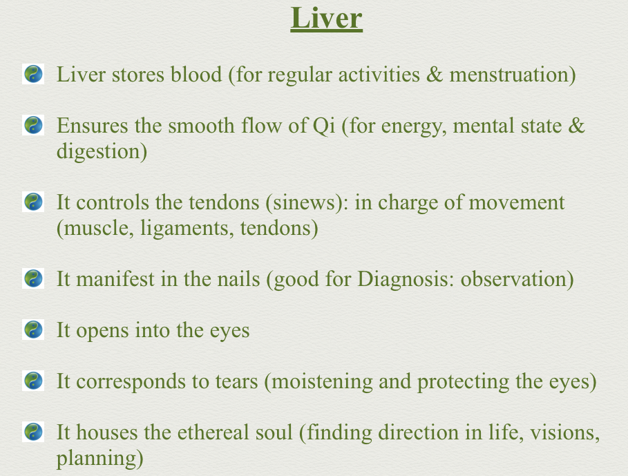 The Liver Functions In Tcm Chinese Med Pinterest Traditional