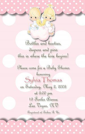 Black Angel Baby Shower Invitations Angel Baby Shower Invitations On