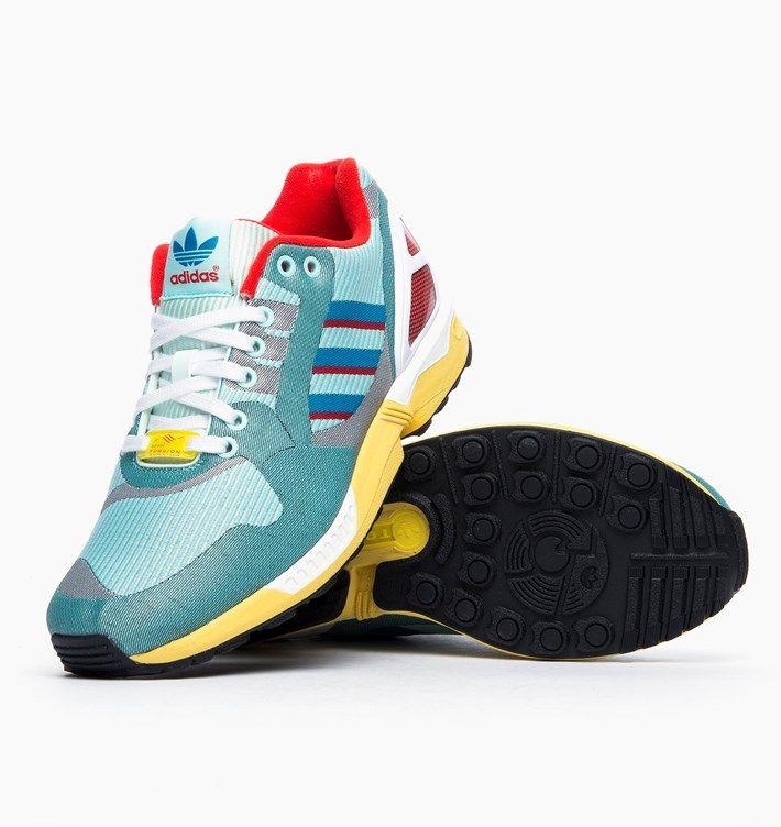 Adidas Originals Zx Flux Weave Blue Sneakers Sneakers Adidas Originals Zx Flux