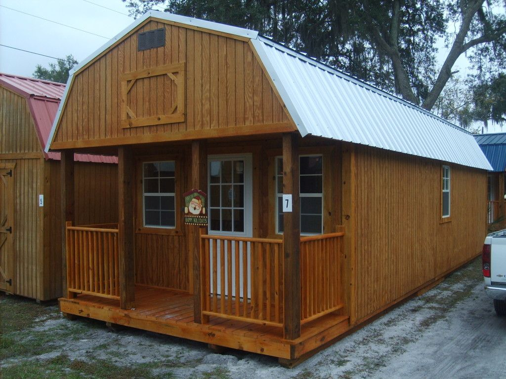 Loft cabin barn shed this would a great playhouse for for Shed style house plans