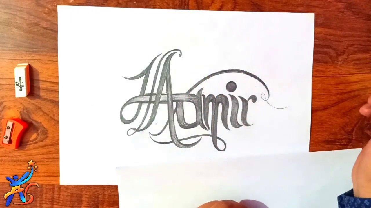 Name Art Aamir Mehndi Name Art Art Art Sketches