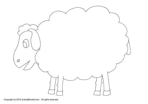 Cotton Ball Sheep Craft Template