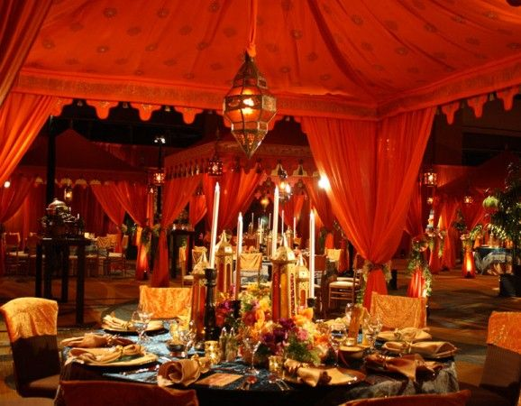 Moroccan Themed Wedding Reception Tablescape Weddings Romantique Moroccan Wedding Theme Moroccan Wedding Moroccan Tent