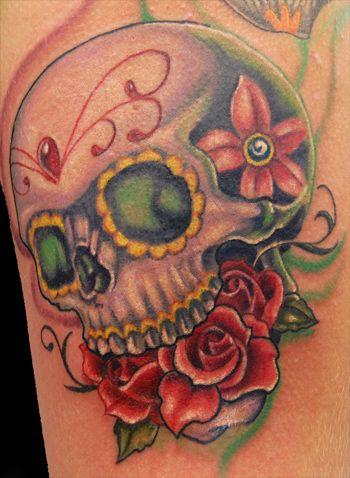 Pin By Esmeralda Hurtado Silva On Kayla In 2020 Sugar Skull Tattoos Half Sleeve Tattoos Designs Skull Tattoo
