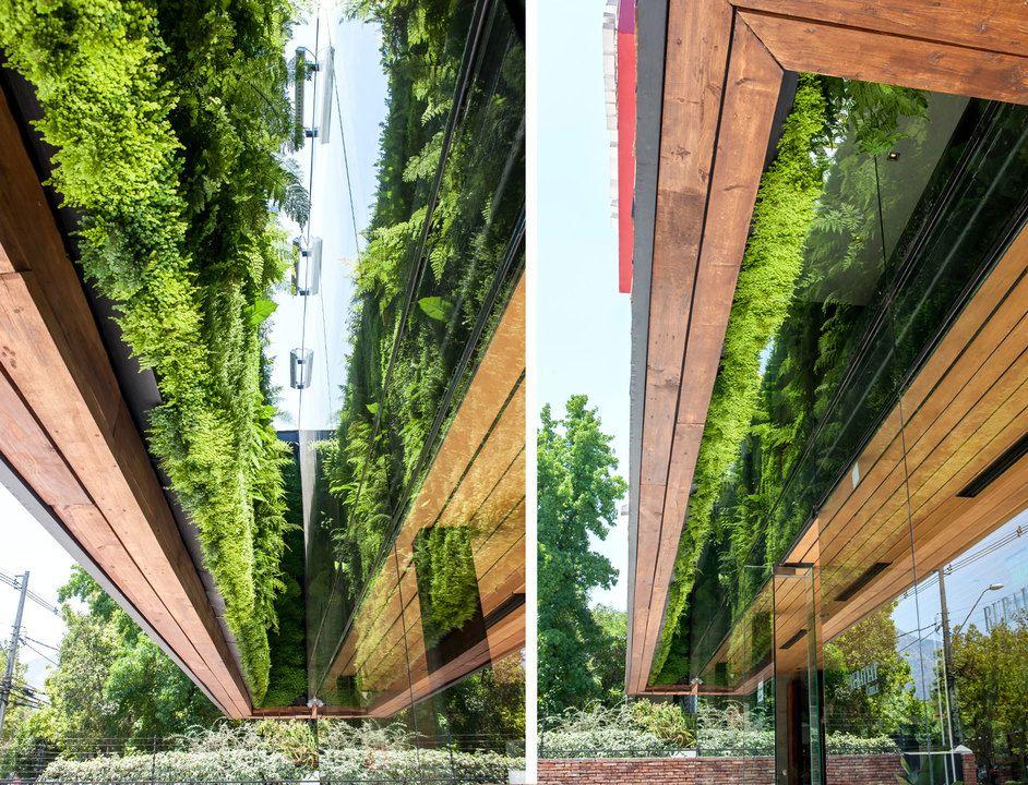 Jardines verticales postformados de Verde 360º Interiores